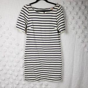 Anthropologie Black & White Striped Dress sz Small